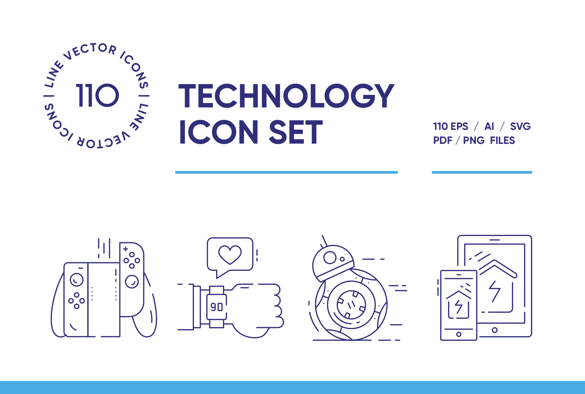 Technology – 110 Line Icons