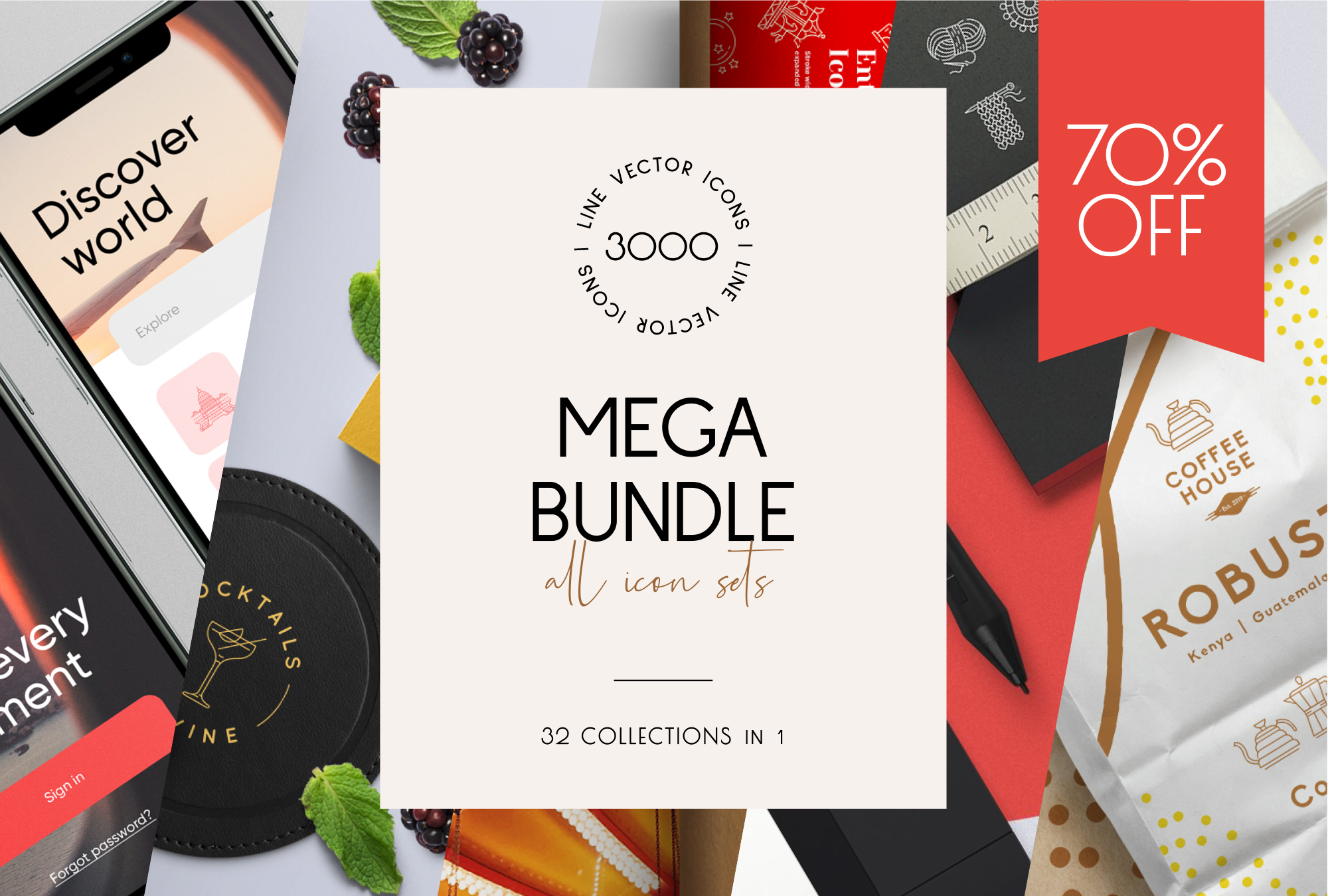 Mega Bundle – 2000+ Line Icons